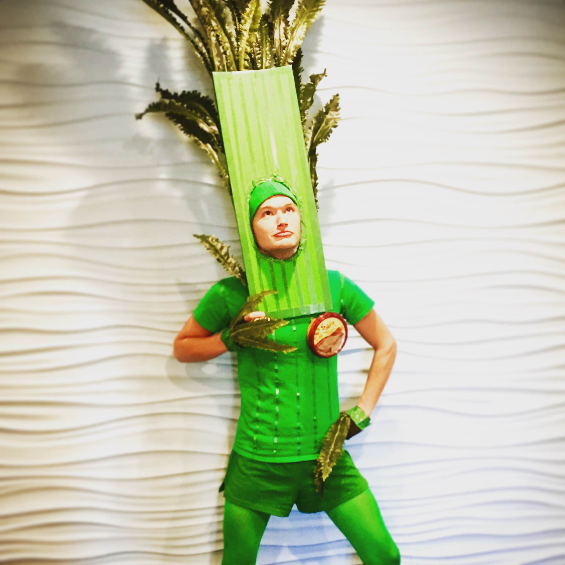 Alan dressed as one of his favorite veggies for Halloween.