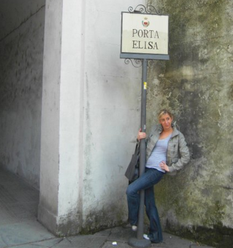 Elise in Lucca, Italy