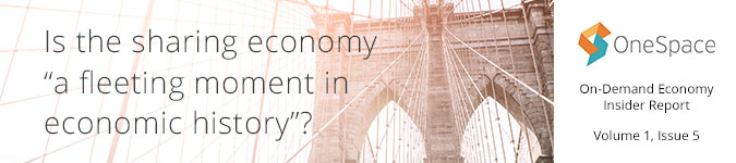 "Is the sharing economy a ""fleeting moment""?"