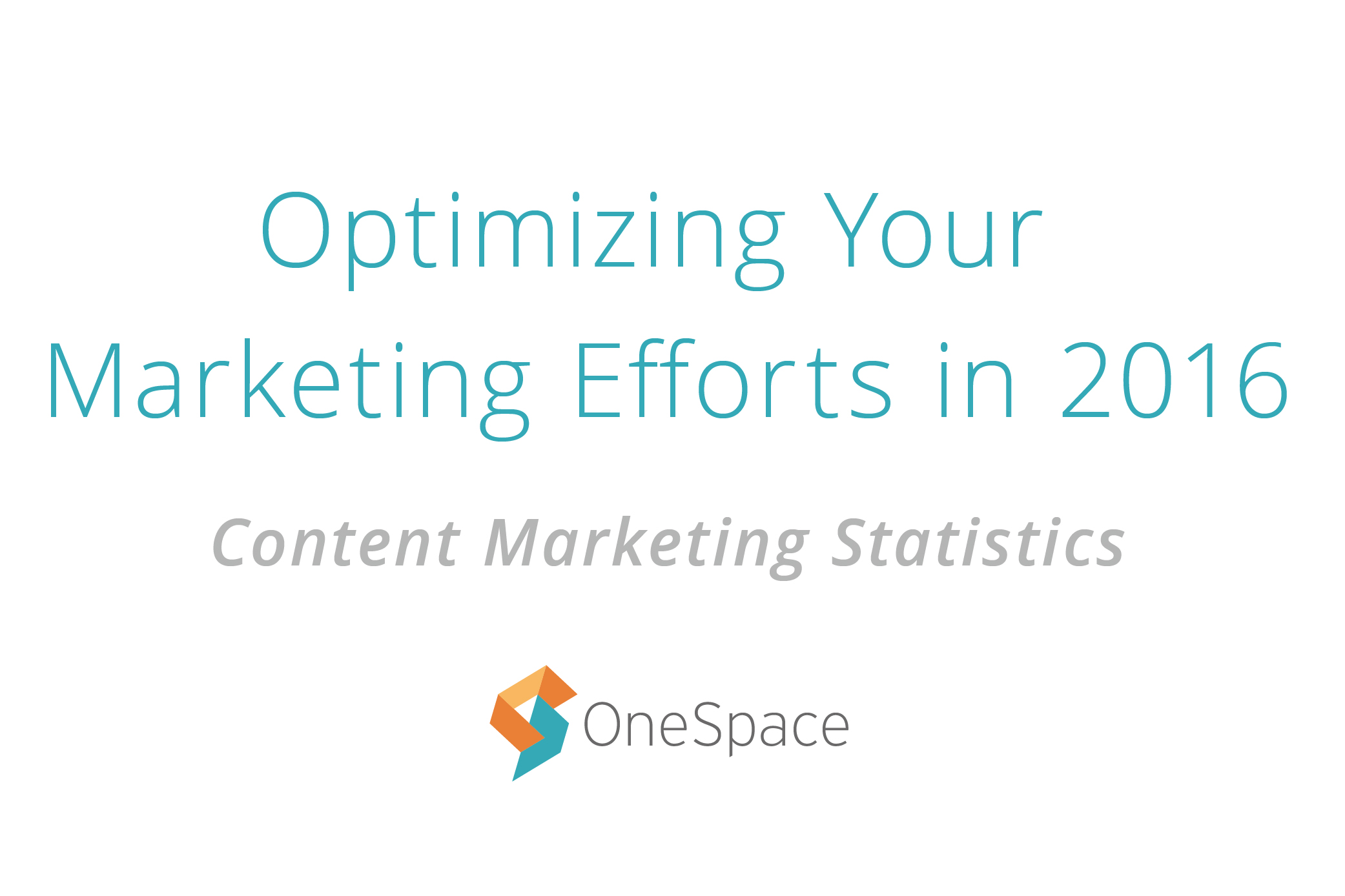 Optimize Your Content Marketing Efforts in 2016 [Infographic]