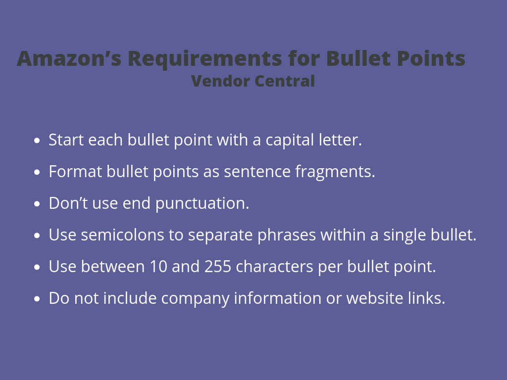 How to Write the Perfect Product Feature Bullet Points on